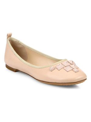 MARC JACOBS Cleo Studded Leather Ballet Flats