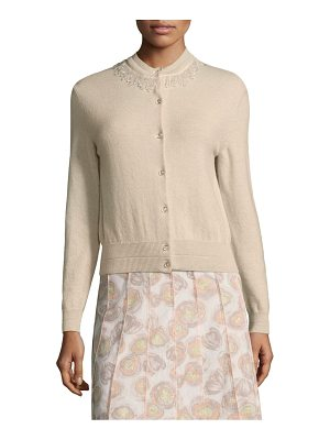 Marc Jacobs embellished wool & cashmere cardigan