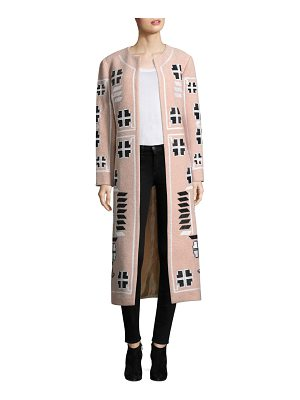 March 11 embroidered wool coat