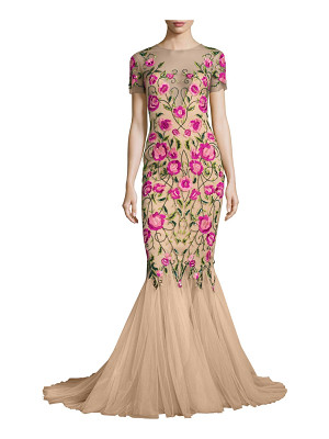 Marchesa Notte floral embroidered mermaid gown