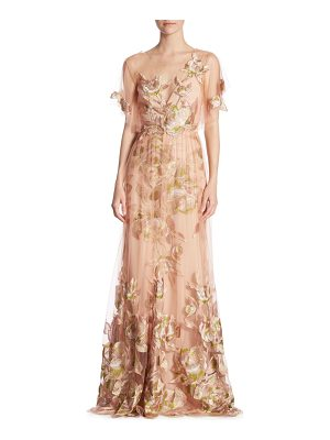 NOTTE BY MARCHESA Flutter Floral Gown