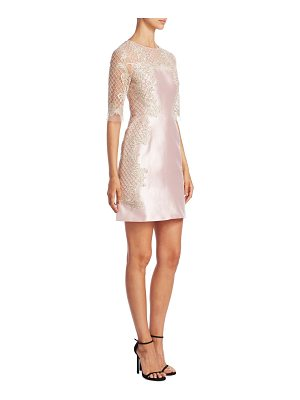 Marchesa roundneck lace dress