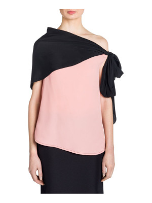 Marni silk off-the-shoulder blouse