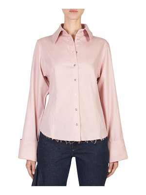MARQUES ALMEIDA Frayed Button-Front Shirt