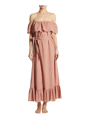 Marysia off-the-shoulder linen dress