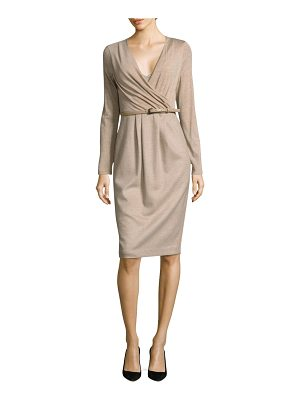 Max Mara narsete wrap dress