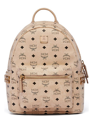 MCM Stark Studded Coated Canvas Mini Backpack