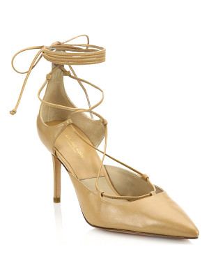 Michael Kors Collection gabby point toe leather lace-up pumps