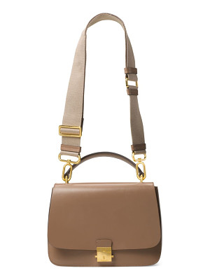 MICHAEL KORS COLLECTION Mia Leather Top Handle Shoulder Bag