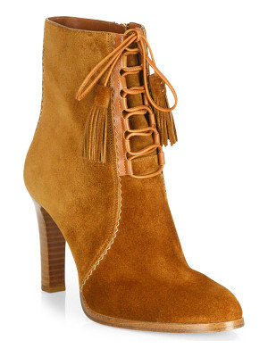 Michael Kors Collection odile suede lace-up booties
