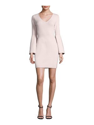 MILLY V-Neck Swing-Sleeve Dress