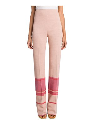 MIU MIU High-Waist Striped Pants