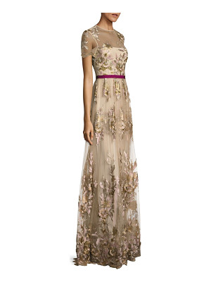ML Monique Lhuillier Bridesmaids floral-applique gown