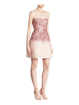 MONIQUE LHUILLIER BRIDESMAIDS Strapless Mini Dress