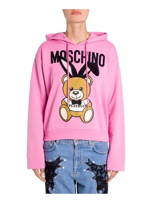 MOSCHINO Cotton Playboy Bear Hoodie