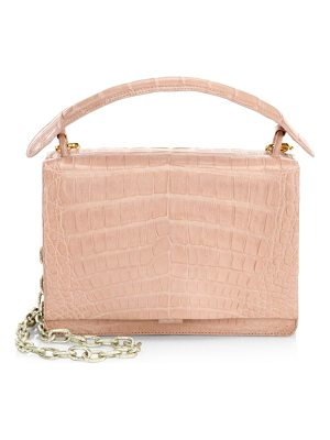 NANCY GONZALEZ Embossed Square Top Handle Bag