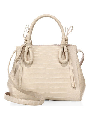 NANCY GONZALEZ Medium Double Tie-Knot Leather Tote