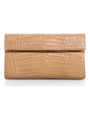 NANCY GONZALEZ Small Crocodile Flap Clutch