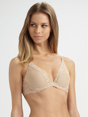 NATORI FOUNDATIONS Feathers Contour Plunge Bra