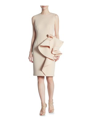 Nero by Jatin Varma nude sheath dress