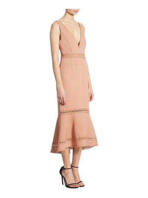 NICHOLAS Bandage Plunge Midi Dress