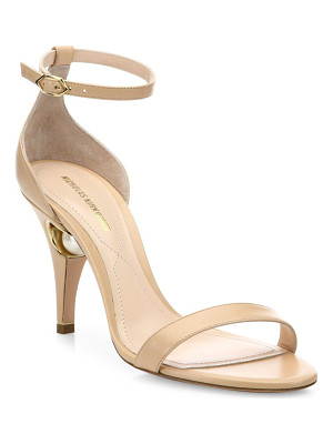 NICHOLAS KIRKWOOD Penelope Pearly Leather Ankle-Strap Sandals