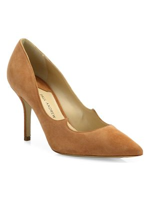 Paul Andrew kimura suede point toe pumps