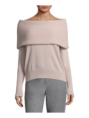 PESERICO Fold-Over Off-The-Shoulder Top