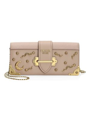 Prada cahier pochette leather crossbody