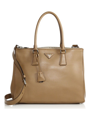PRADA City Calf Medium Double-Zip Tote