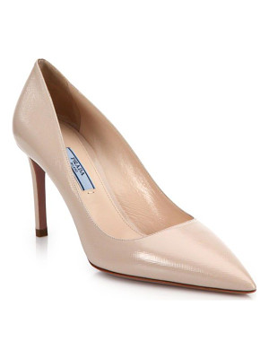 PRADA Saffiano Leather Point Toe Pumps