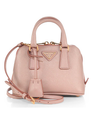 PRADA Saffiano Lux Double Handle Mini Satchel