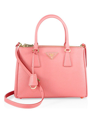 Prada saffiano lux small double-zip satchel