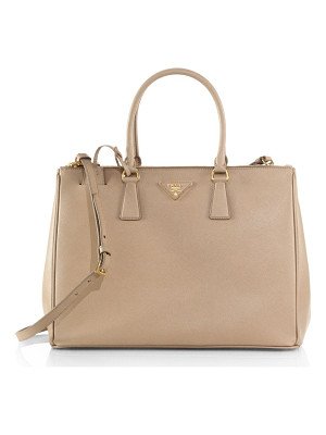Prada large double-zip saffiano leather tote