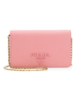 Prada small monocrome leather crossbody bag