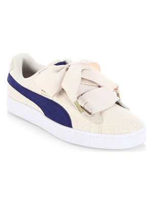PUMA basket heart denim sneakers