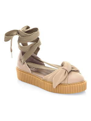 PUMA Fenty Bandana Leather Creeper Flats