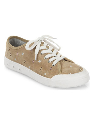RAG & BONE Embroidered Suede Sneakers