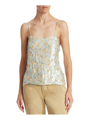 Ralph Lauren Collection sequin printed silk tank