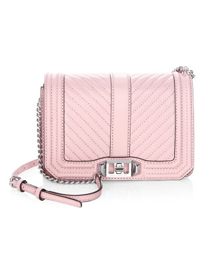 REBECCA MINKOFF Chevron Quilted Leather Crossbody Bag