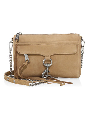 REBECCA MINKOFF Mini Mac Nubuck Crossbody Bag