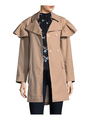 REBECCA TAYLOR Faille Belted Trench Coat