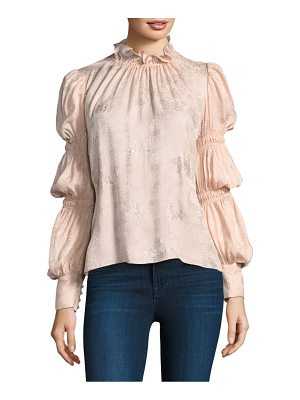 Rebecca Taylor silk puffy sleeve top