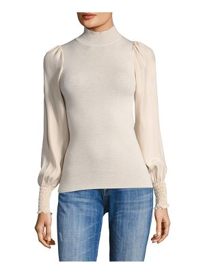Rebecca Taylor wool shirred top