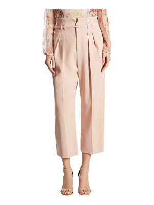 RED VALENTINO High-Waist Cropped Wide-Leg Pants