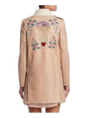 REDValentino princess shearling leather coat