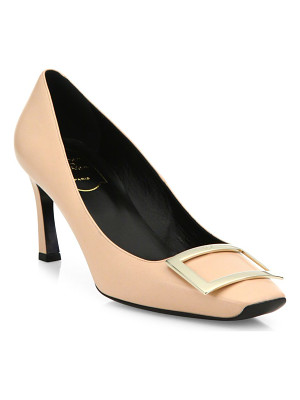 ROGER VIVIER Decollete Belle Vivier Trompette Leather Pumps