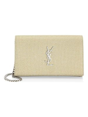 Saint Laurent metallic sparkle wallet on chain