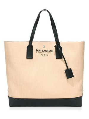 SAINT LAURENT Large Raffia Beach Tote