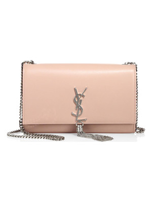 SAINT LAURENT Medium Kate Smooth Leather Tassel Chain Shoulder Bag